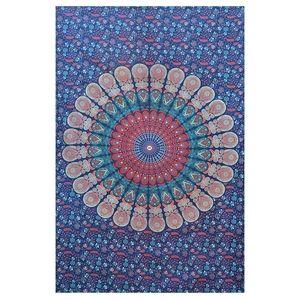 Other - Boho blue red mandala tapestry/blanket